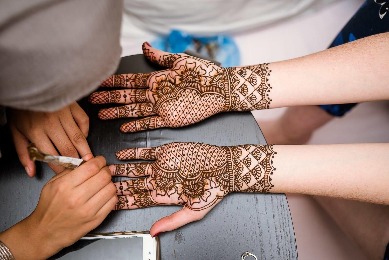 Mehndi ceremony for Edinburgh wedding