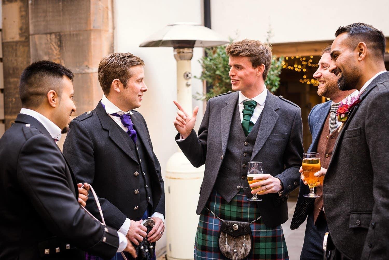Groom and Groomsmen at Hotel Du Vin Edinburgh