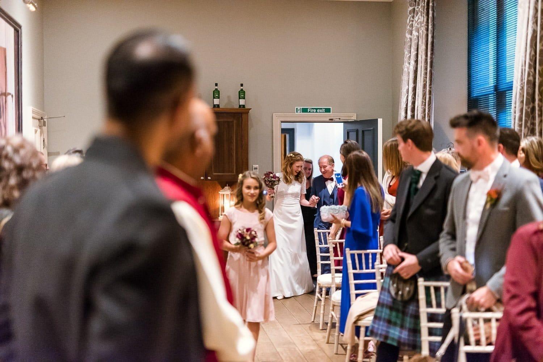 Bridal arrival at Hotel Du Vin Edinburgh