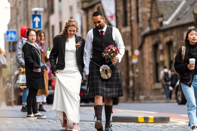 Edinburgh bridal portraits