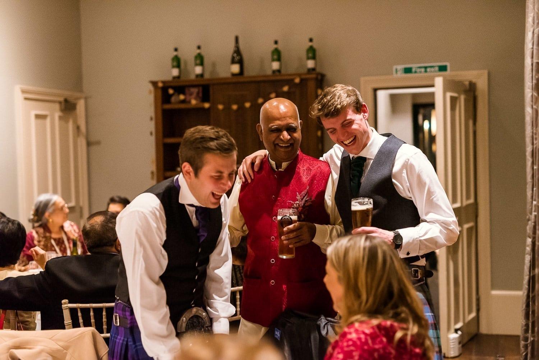 Evening drinks at Hotel Du Vin wedding