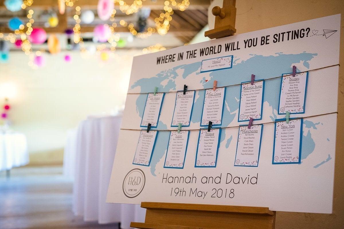 Table decorations at Hautbois Hall wedding