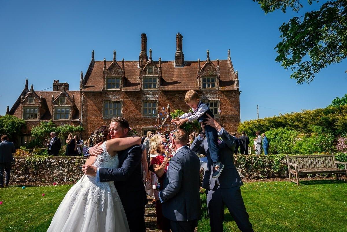 Wedding ceremony at Hautbois Hall
