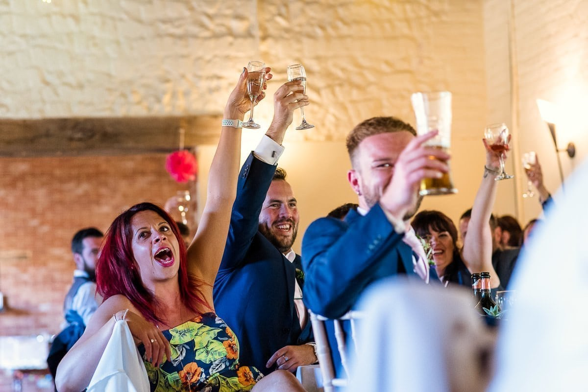 Hautbois Hall summer wedding reception speeches