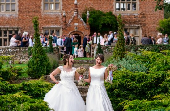 Newly married brides at Hautbois Hall