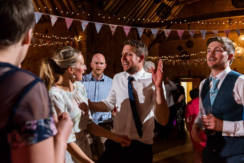 Evening wedding reception dancing at Southwood hall