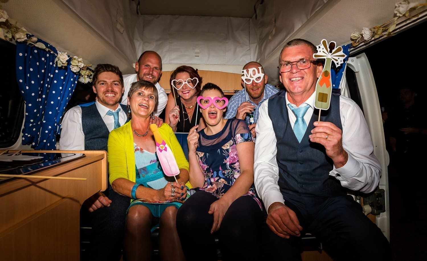 Norfolk retro campers photo booth at Southwood Hall wedding