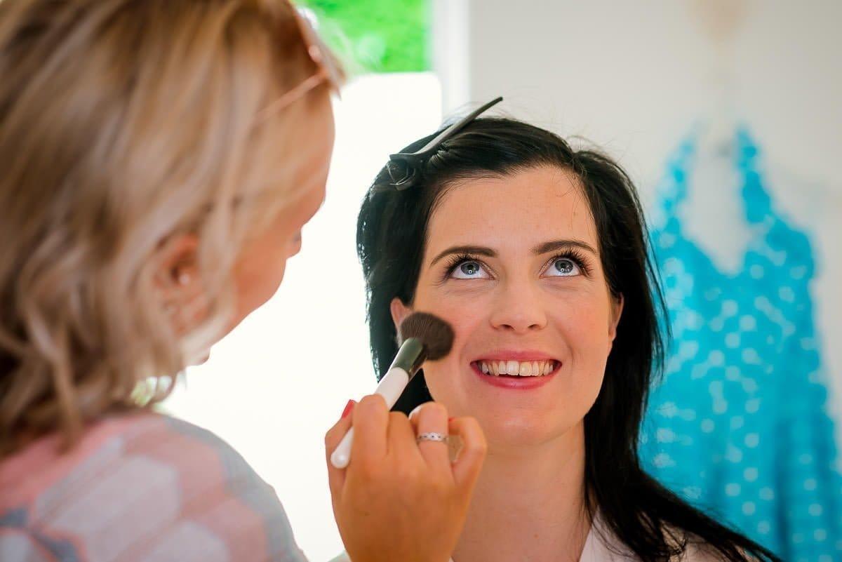Bridal makeup at Blake Hall Wedding