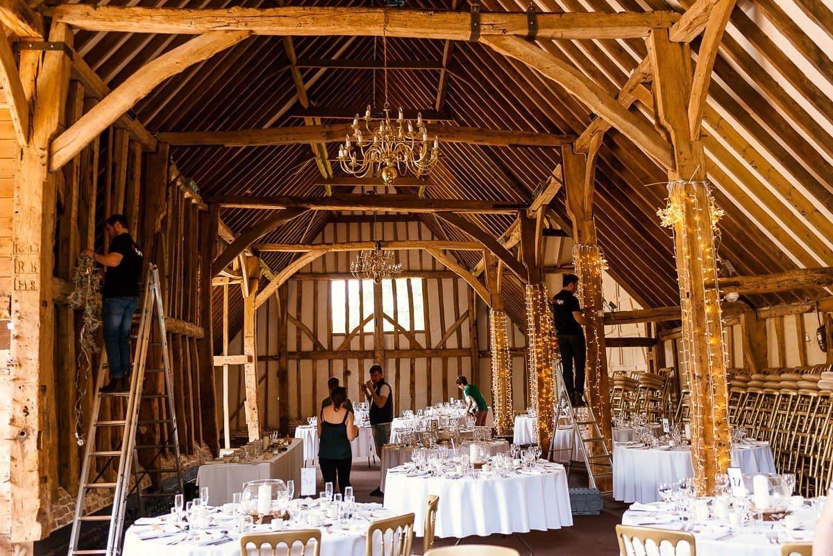 Blake Hall Wedding set up