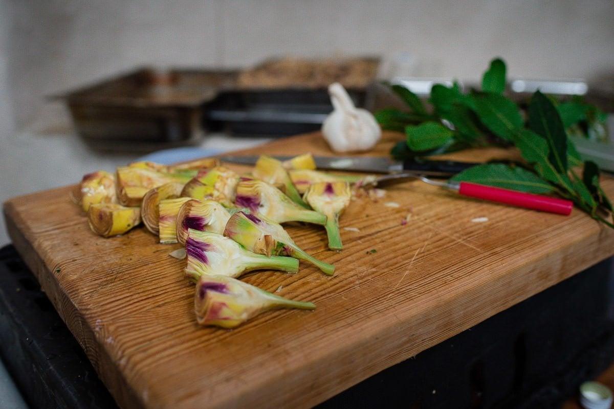 Food prep for Voewood Wedding