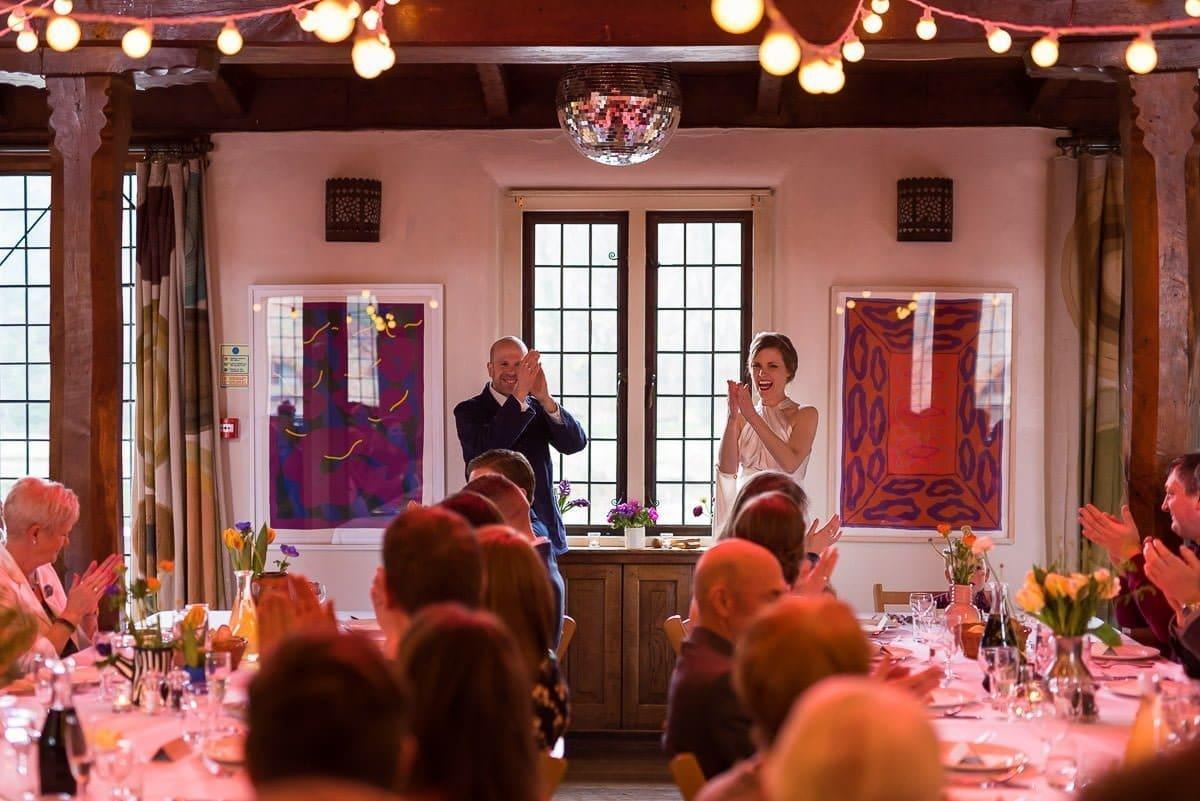 Wedding reception at Voewood Hall