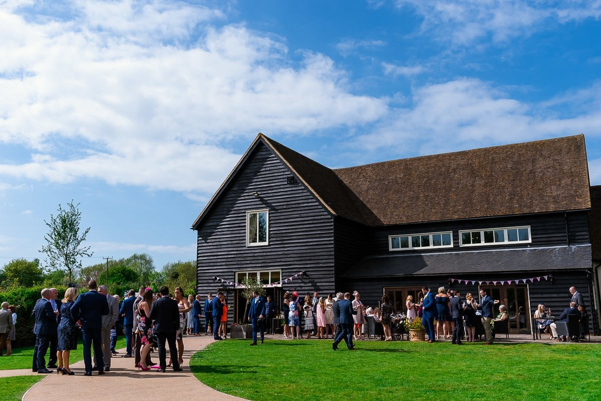 Wedding party at Essex Barn White Hart