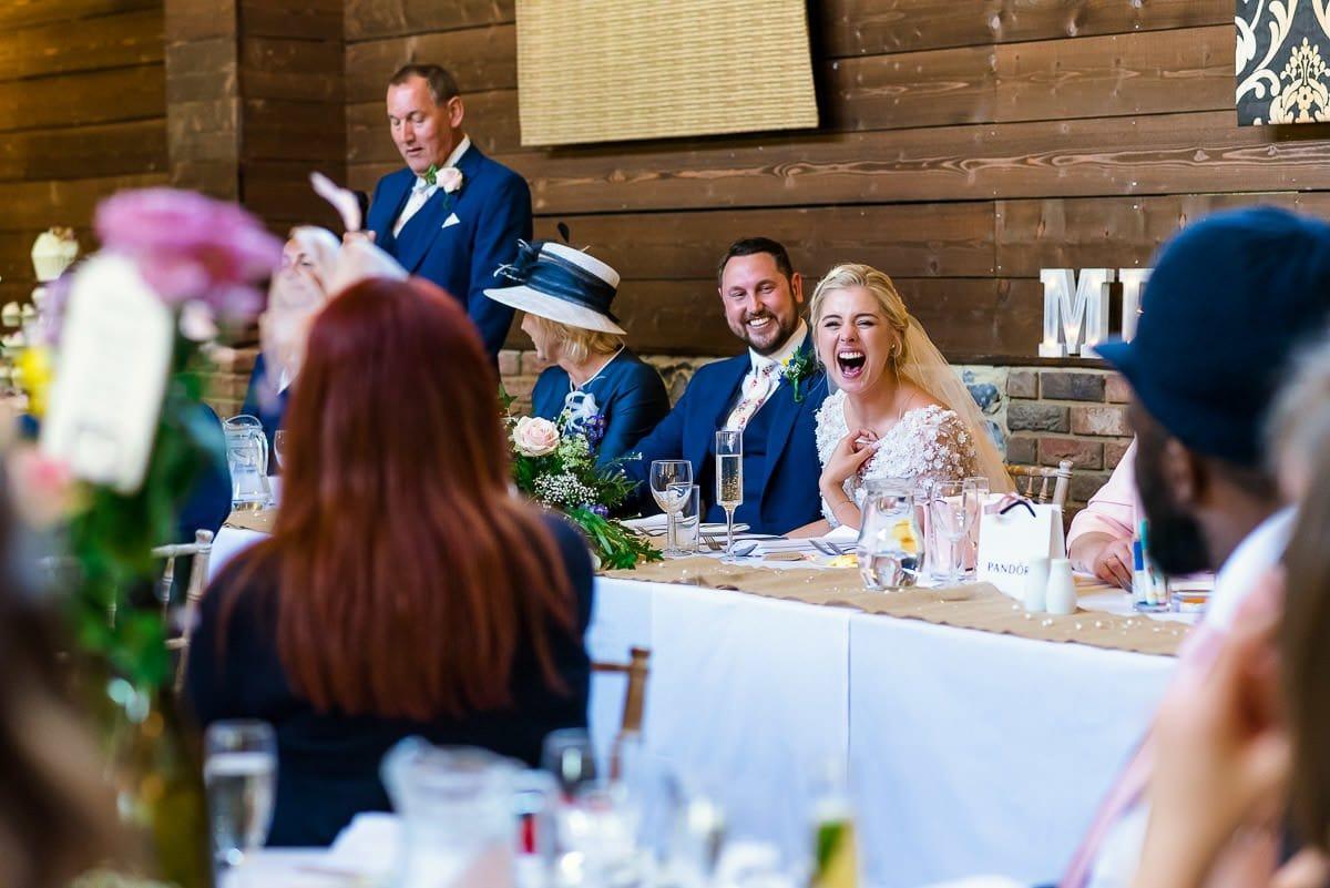 Wedding speeches at Essex Barn