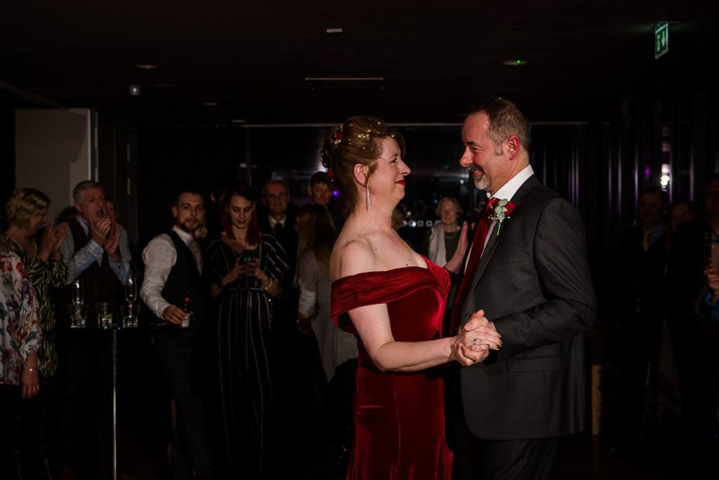 First dance at Norfolk Mead Hotel wedding