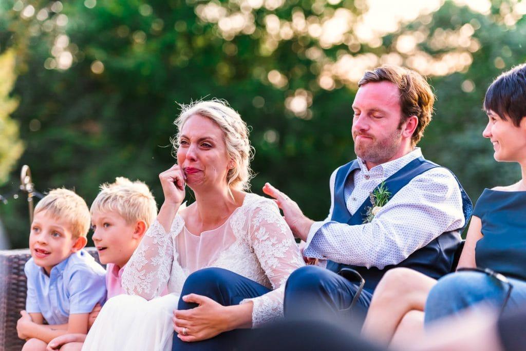 Tears during wedding speeches at Ingoldisthorpe wedding