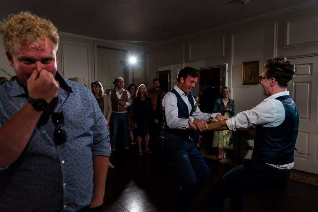 Funny moment during Groom and Best man dance during wedding reception
