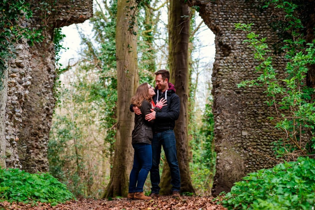 Couples in love Norfolk engagement photography