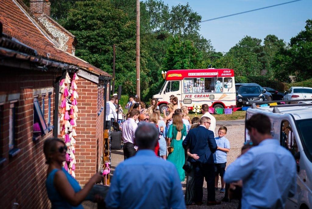 Ice Cream Experience at Tithe Barn Wedding