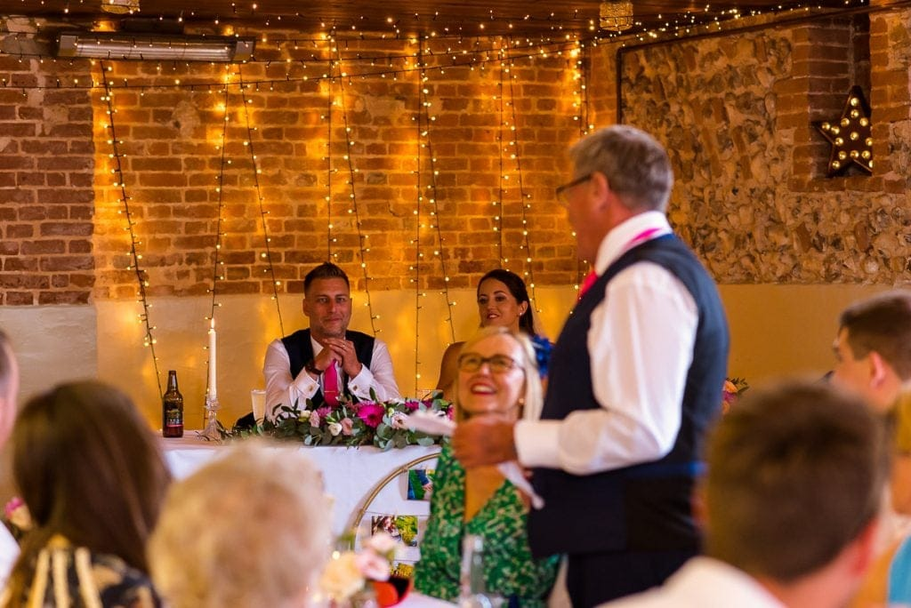 Father of the bride speech at Horstead Tithe Barn