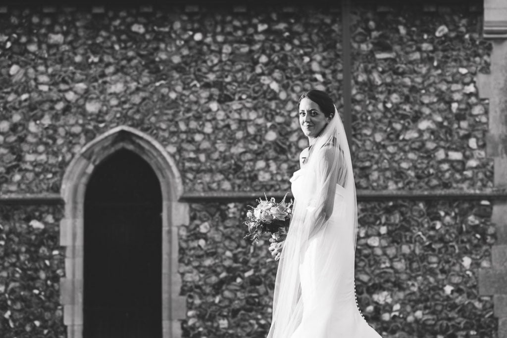 Bridal portrait at Horsted Tithe Barn