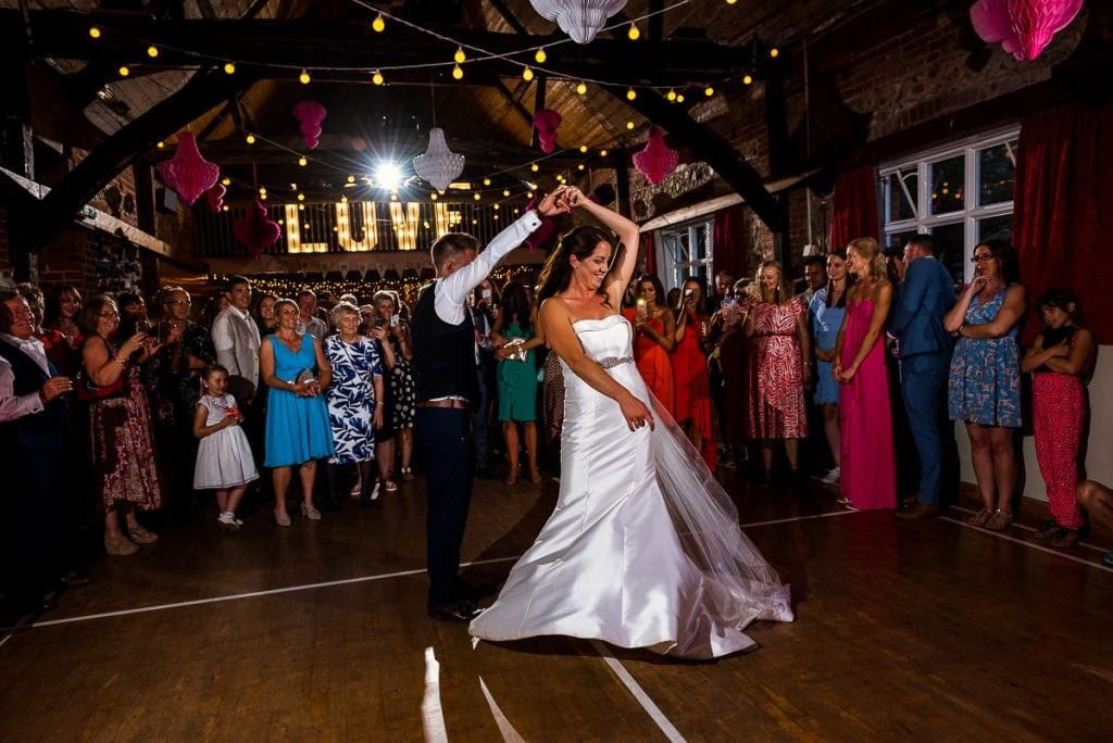 First Dance at Tithe Barn Wedding