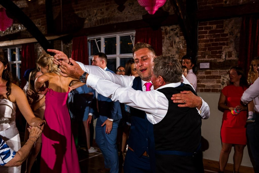 Wedding Reception party at Horstead Tithe Barn