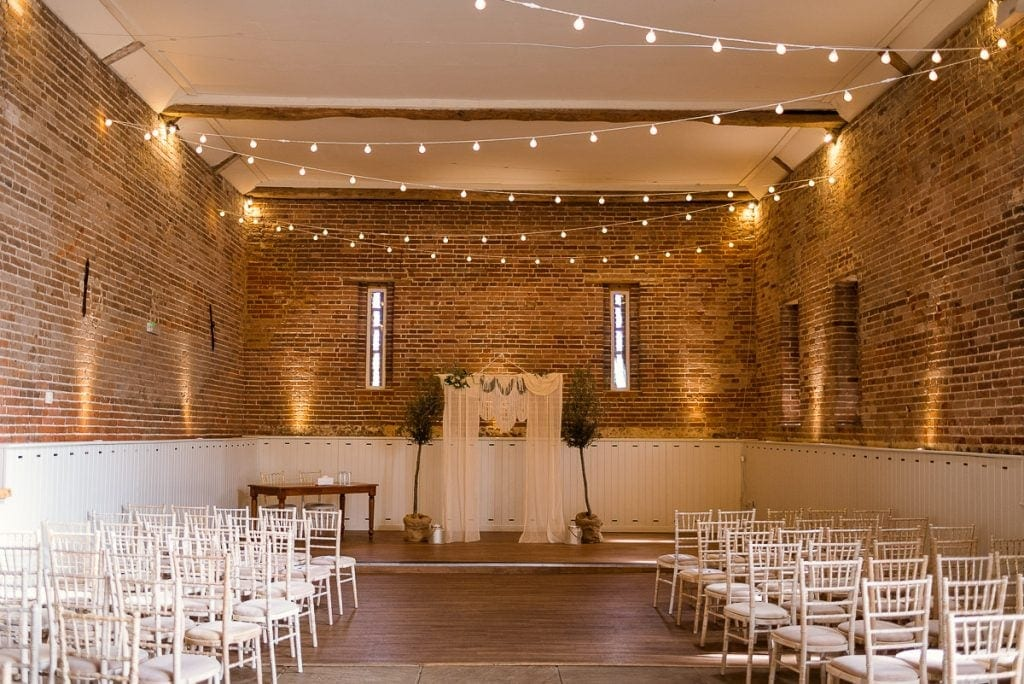 Great Barn at Manor mews before wedding ceremony
