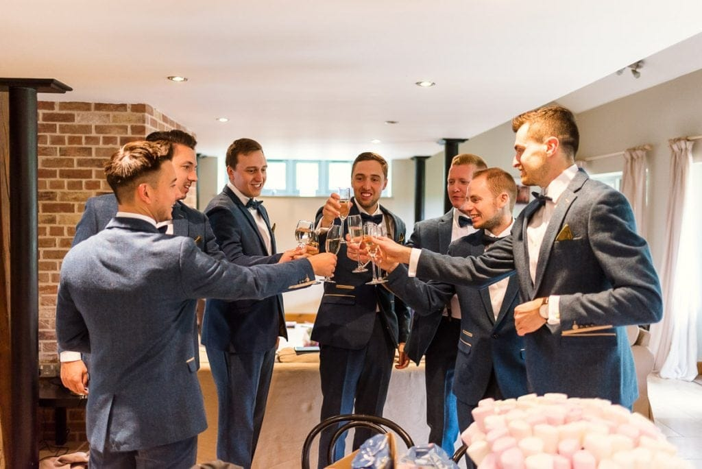 Groomsmen drinks at Manor Mews wedding