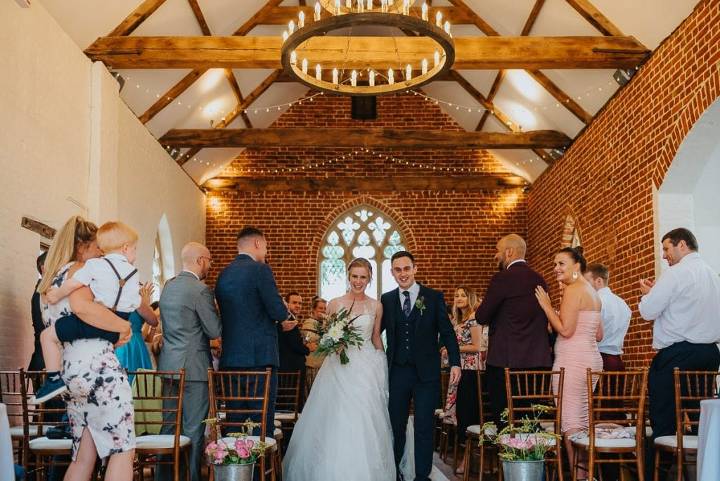 Newlyweds at The Reading Room in Alby, Norfolk