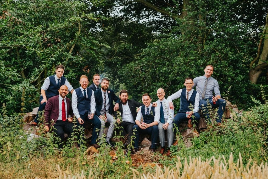 Groomsmen portraits during Reading Room Wedding